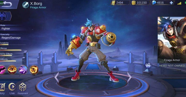 New Hero In Mobile Legends - X Borg !